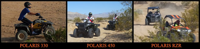 ATV Las Vegas - Polaris RZR Rentals, ATV Las Vegas - on this Polaris Scrambler 500 4WD, ATV Las Vegas - on this Polaris Trail Boss